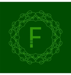 Simple monogram f vector