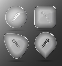 Knife glass buttons vector
