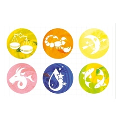 Zodiac signs watercolor vector