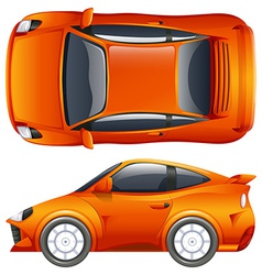 An orange vehicle vector