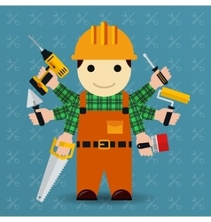 Builder with many arms vector