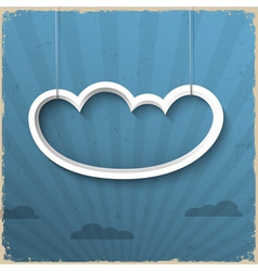 3d white cloud on grunge background vector