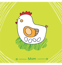 Mom hen vector
