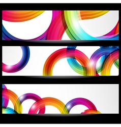 Abstract banner with forms vector