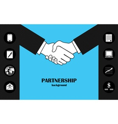 Business partnership vector