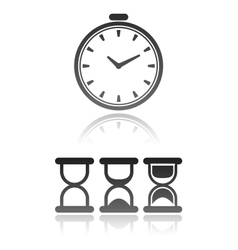 Set of different kind of clock icons vector