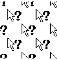 Seamless pattern of arrows and question marks vector