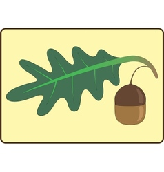 Icon in the form of oak leaves and acorns vector