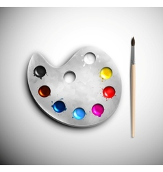 Watercolor with brush vector