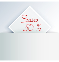 Sales sign vector