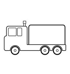 Cargo car icon vector