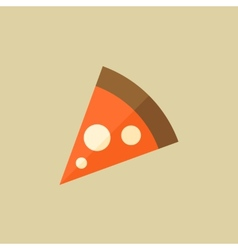 Pizza food flat icon vector