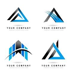 Letter a logo designs vector