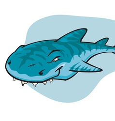 Cartoon tiger shark vector