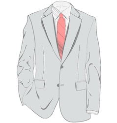 Light gray suit vector