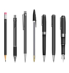 Pens and pencils vector