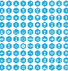 100 award icons vector