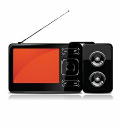 Tv mp3 player vector