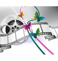 Movie reel background vector