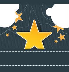 Star label on retro design vector