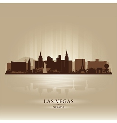 Las vegas nevada skyline city silhouette vector