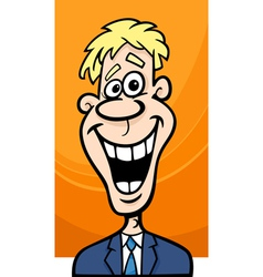 Happy man cartoon vector
