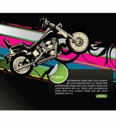 Motorbike graphic design vector