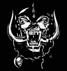 Skull black and white vector