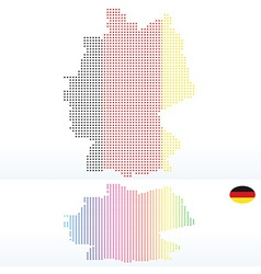 Map of federal republic of germany with with dot vector