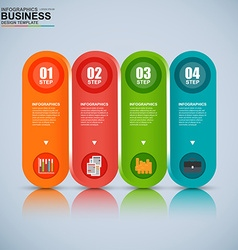 Business and communication inforgraphic template vector