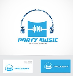 Party music logo vector