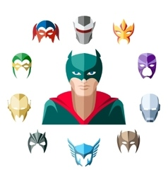 Superhero character flat design vector