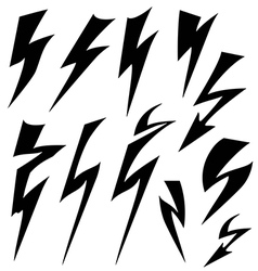 Flat sign of lightning vector