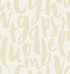 Seamless pattern letters vector