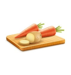 Organic vegetables carrots vector