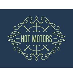 Vintage motorcycle labels badges or design vector