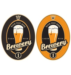 Labels for the brewery vector