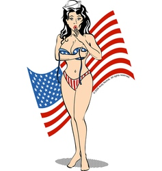 Patriot usa girl vector