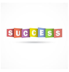 Success overlapping letters icon vector