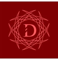 Simple monogram d vector