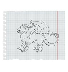 Monster line art vector