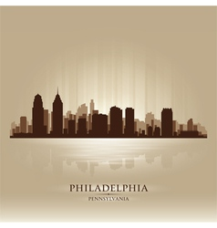 Philadelphia pennsylvania skyline city silhouette vector