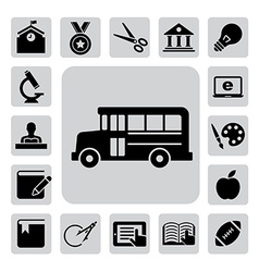 Education icons set eps 10 vector