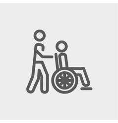 Nursing care thin line icon vector