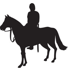 Military horseman on horseback vector