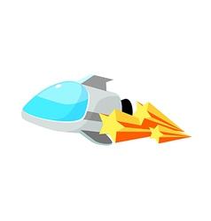 Icon rocket vector