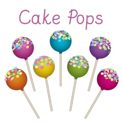 Cake pops set vector