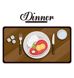 Menu and food design vector