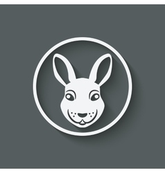 Rabbit head symbol vector