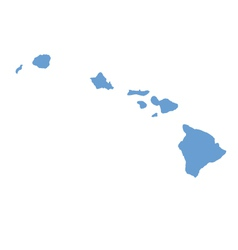 State map of hawaii by counties vector
